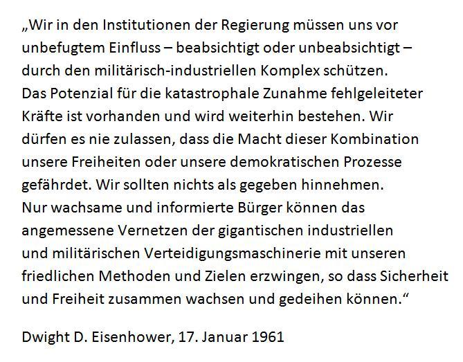 Eisenhower Zitat